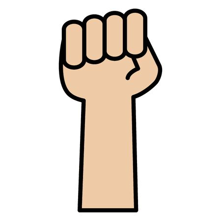 hand fist force icon vector illustration design Illustration