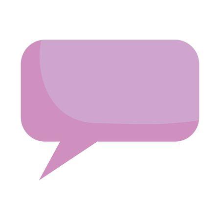 Communication bubble design, Message discussion conversation talk and technology Vector illustration