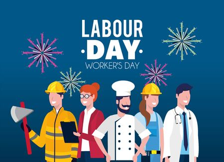 professional employers to labour day holiday vector illustration