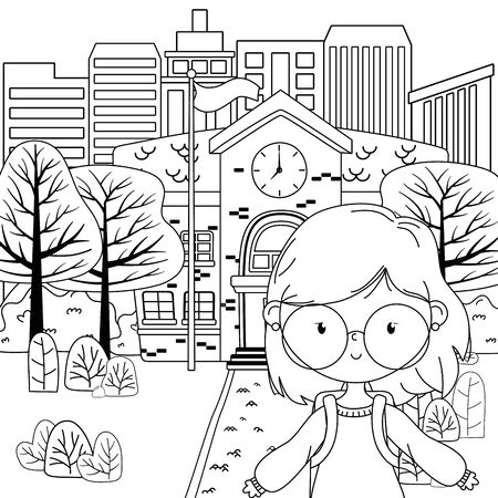 Teenager girl cartoon design vector illustrator