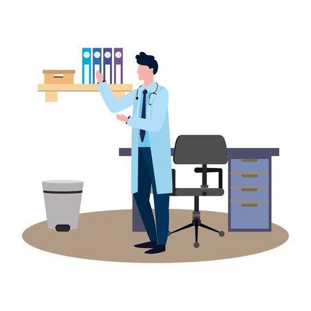 healthcare medical cartoon Foto de archivo - 130692707