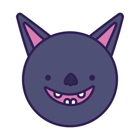 bat face cartoon icon design 写真素材 - 130713740