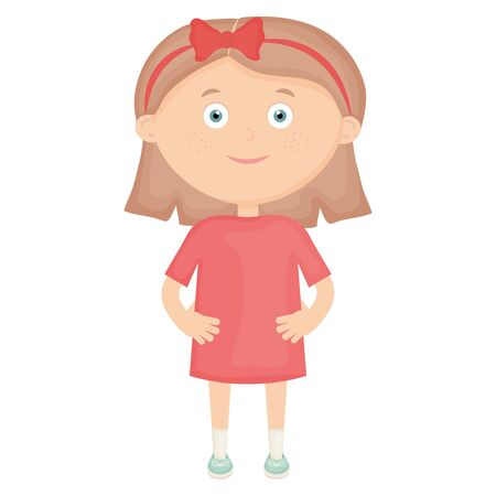 cute little girl character Ilustração