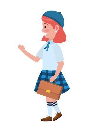 Girl kid of school design