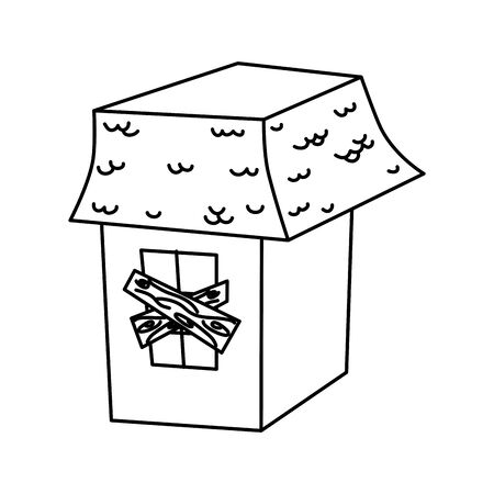 trick or treat - happy halloween line design Illustration