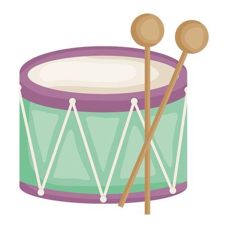 drum musical instrument toy vector illustration design