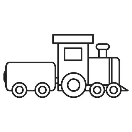 little train toy entertainment icon vector illustration design