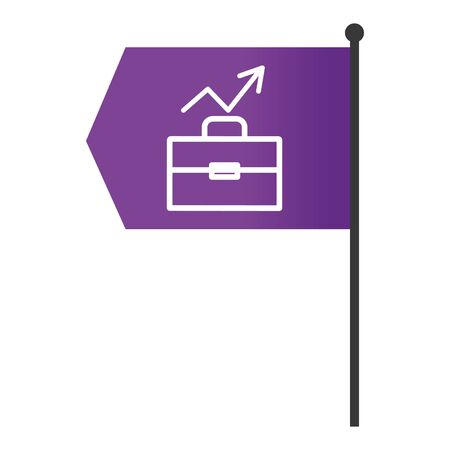 executive suitcase with success arrow infographic layout flag cartoon vector illustration graphic design