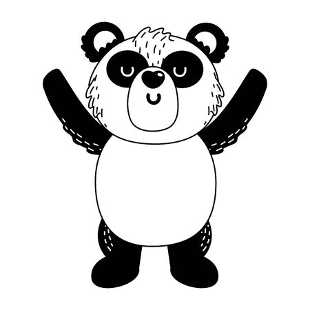 Panda cartoon design, Animal cute zoo life nature and fauna theme Vector illustration