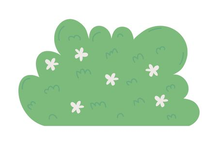 Shrub design, Park nature outdoor beautiful season spring and summer theme Vector illustration