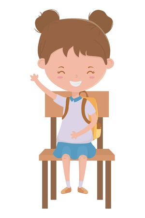 Girl kid design, School education learning knowledge study and class theme Vector illustration 向量圖像