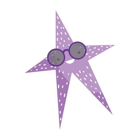 Sea star design, Ocean starfish nature beach underwater and aquarium theme Vector illustration