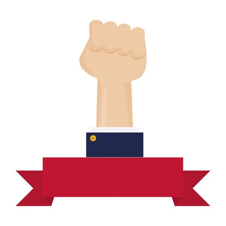 hand fist force icon vector illustration design Иллюстрация