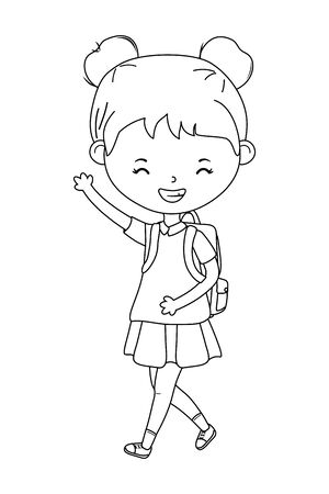 Girl kid design, School education learning knowledge study and class theme Vector illustration Illusztráció