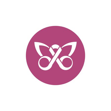 ribbon shaped butterfly breast cancer awareness