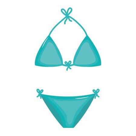 bikini female swimsuit isolated icon Ilustrace