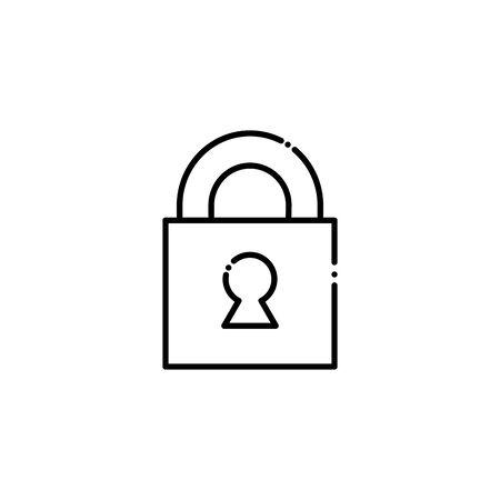 Isolated padlock vector design