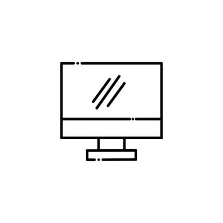 Isolated computer vector design