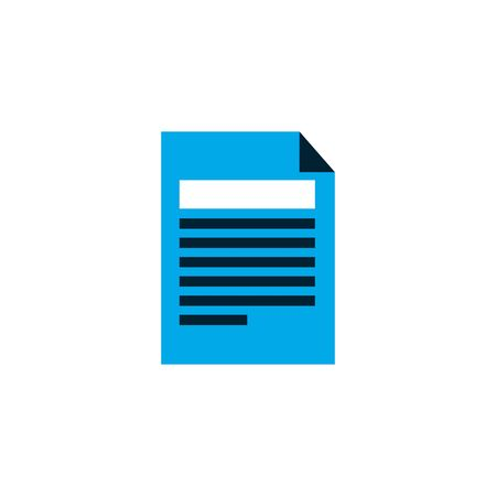 Isolated document archive vector design
