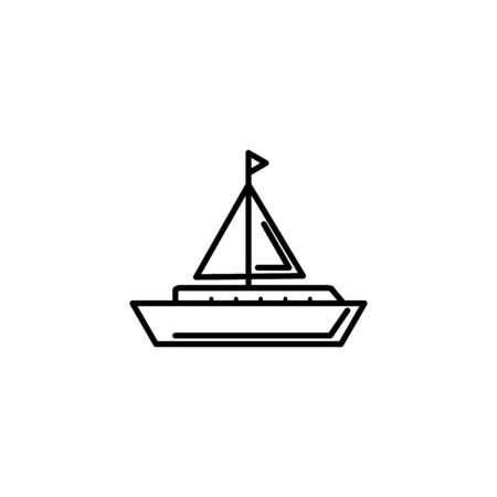 sailing boat summer icon line
