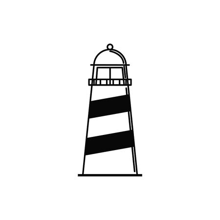 lighthouse maritime vacation travel icon