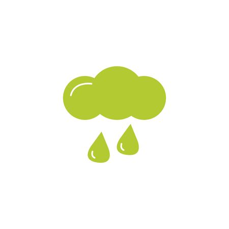 cloud rainy eco friendly fill style icon vector illustration design Ilustração