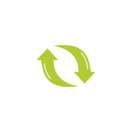 recycle arrows eco friendly fill style icon Ilustração