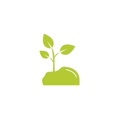 leafs plant eco friendly fill style icon vector illustration design