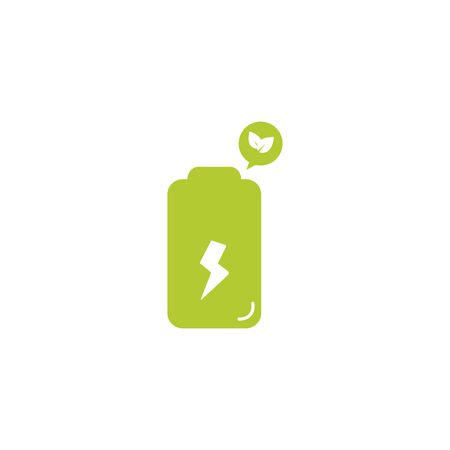battery eco friendly fill style icon vector illustration design