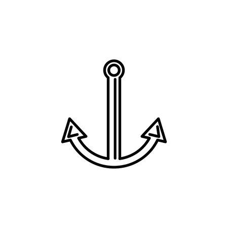 nautical anchor summer icon line illustration design Ilustracja