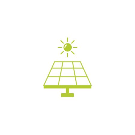 solar panel eco friendly fill style icon vector illustration design