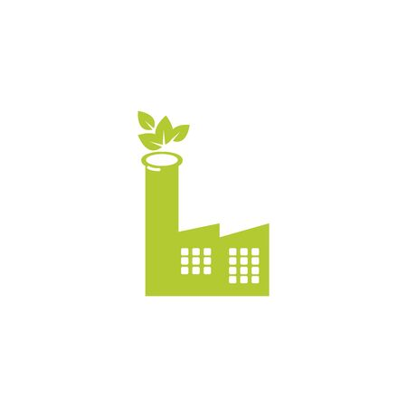 factory eco friendly fill style icon vector illustration design