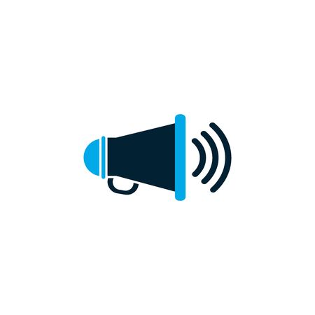 Megaphone design, Amplifier speaker bullhorn announce speech message communication and sound theme Vector illustration