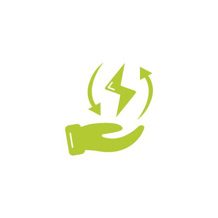 energy ray eco friendly fill style icon vector illustration design