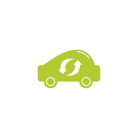 car eco friendly fill style icon vector illustration design Ilustração