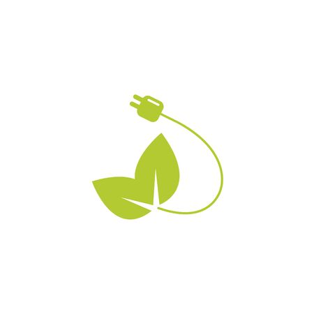 wire energy eco friendly fill style icon vector illustration design Ilustração