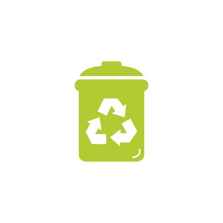 waste bin eco friendly fill style icon vector illustration design