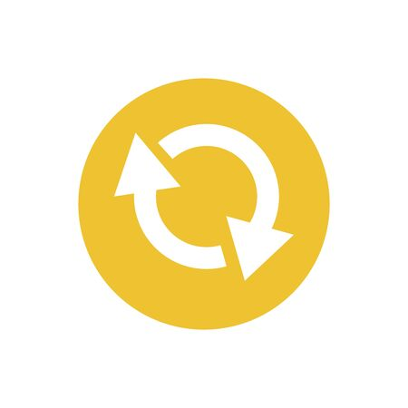icon of reload arrow in color circle  イラスト・ベクター素材