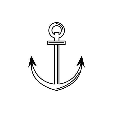 anchor nautical vacation travel icon
