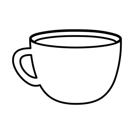 coffee cup beverage handle icon line style