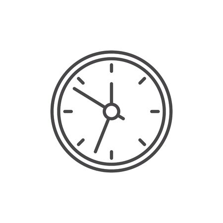 Isolated clock icon vector design Çizim