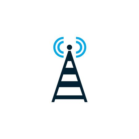 Isolated network tower icon vector design