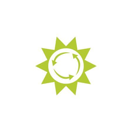 sun eco friendly fill style icon Illusztráció