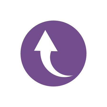 icon of return arrow in color circle Illusztráció