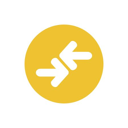 icon of transfer arrow in color circle