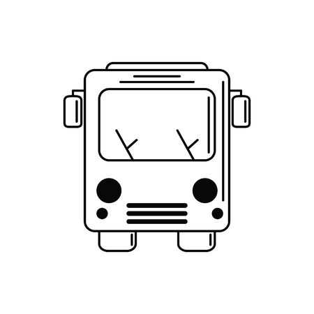 bus transport vacation travel icon