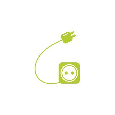wire energy eco friendly fill style icon Illusztráció