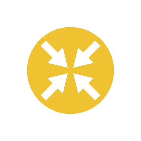 icon of arrows directed in one point in color circle