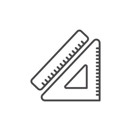 Isolated ruler of school vector design