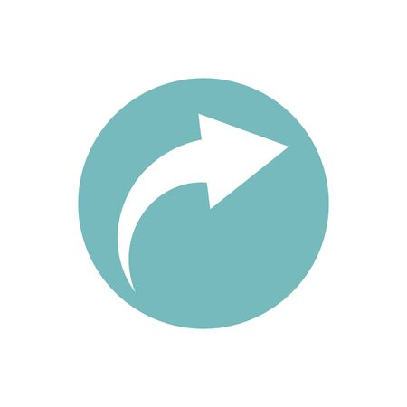 icon of arrow indicate direction in color circle